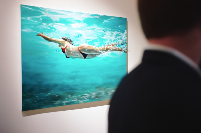 Swimming in Art at Gallery Henoch