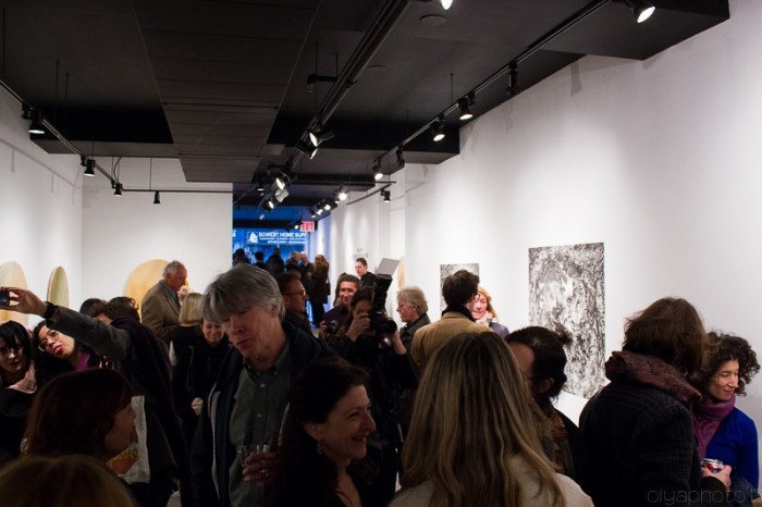 The Packed Reception at Garis & Hahn