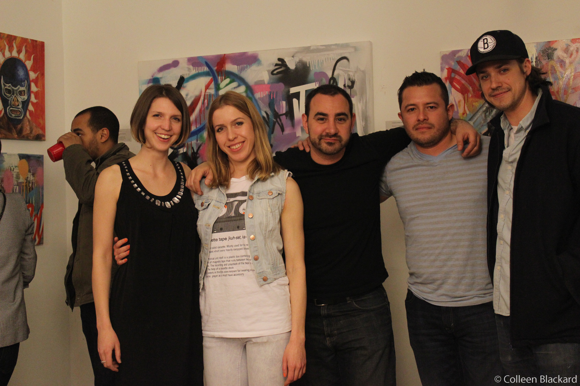 (L – R) Colleen Blackard, Zofia Bogusz , Mike Wolf, Rodrigo Valles, and Steve Wastervalalles
