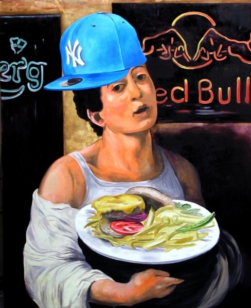 Burger, 2013, oil on canvas
