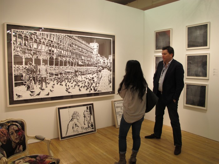 "Thomas Witte: ""Piazza San Marco"" 2012 Hand cut archival paper at Davidson Contemporary"