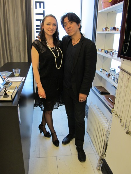 Julia Stibal (left) curated the show with one of SIM's jewelry designers