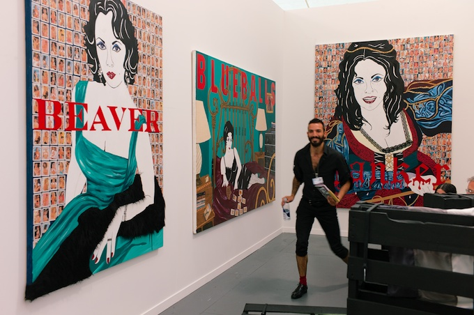 Love some Liz Taylor at Frieze Art Fair NY 2013