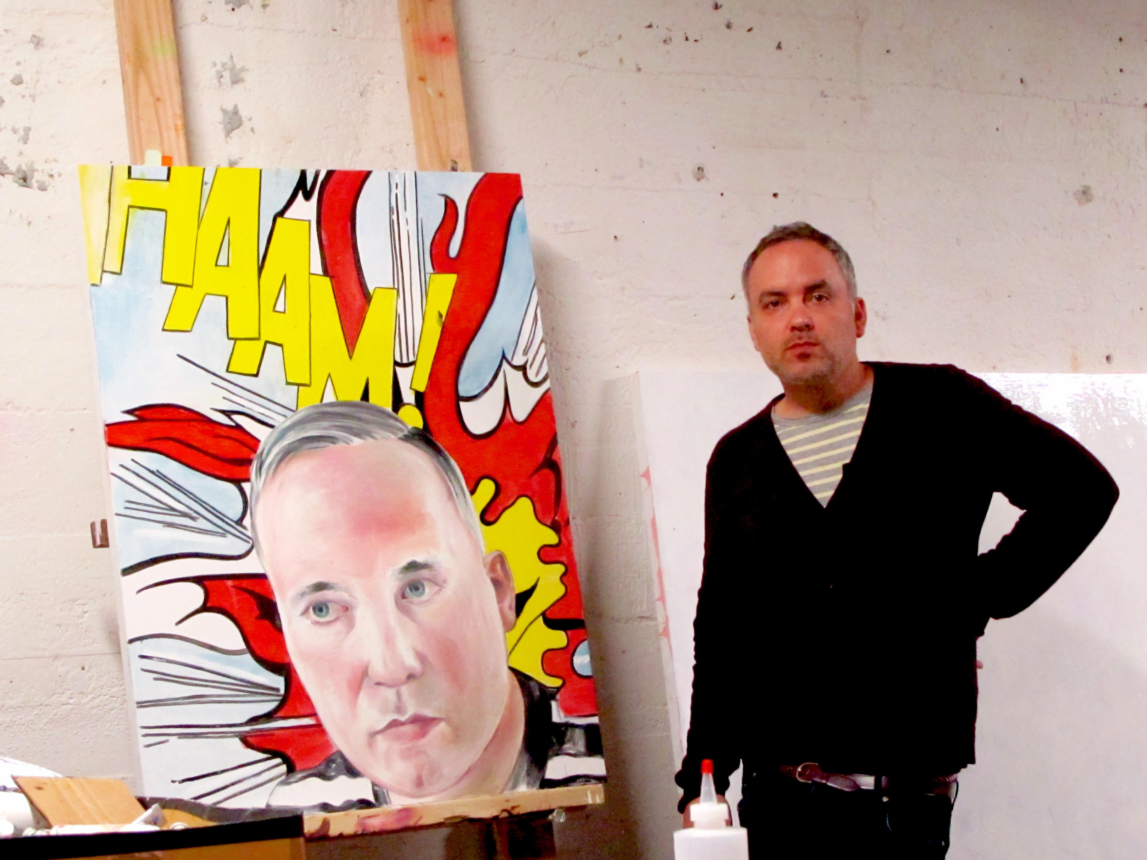 Noah Becker at his studio