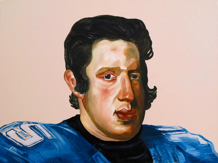 Phillip IV as Tim Tebow, 18 x 20 inches, oil on panel
