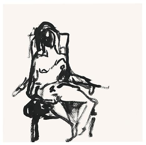 TRACEY EMIN a Feeling of Past, 2012 gouache on paper 9.84 x 9.84 inches 25 x 25 cm
