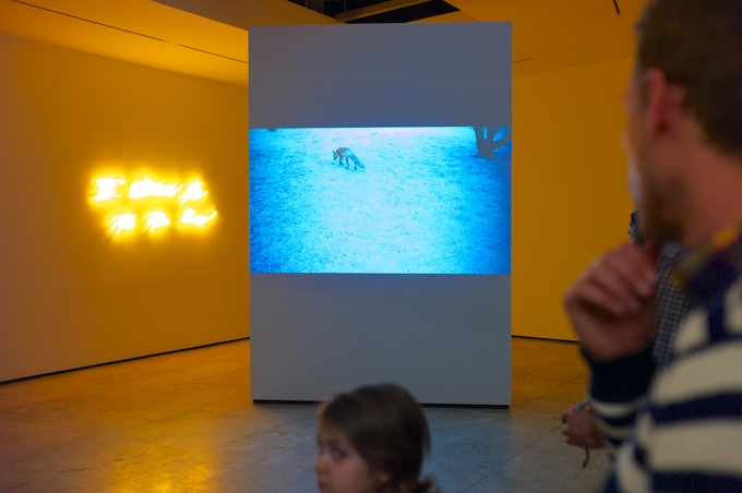 Tracey Emin's video installation at Lehmann Maupin Gallery