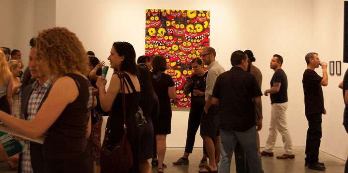 Gallery crowd with Catophony by Mandad