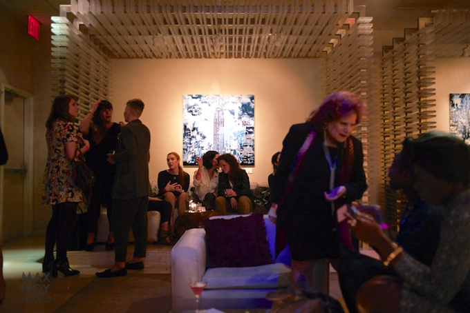 Attendees at the W Times Square to kick off Affordable Art Fair Fall 2013 Edition