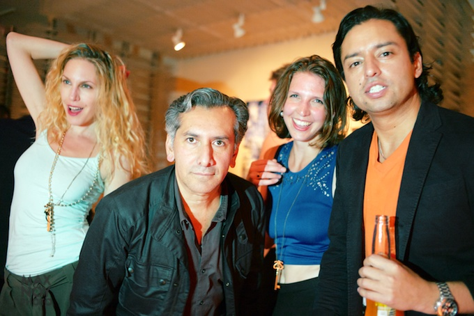 Some of the AF art entourage at the party (L-R) 2nd from left is artist Vincent Zambrano, artist Colleen Balckard and AF publisher Jamie Martinez