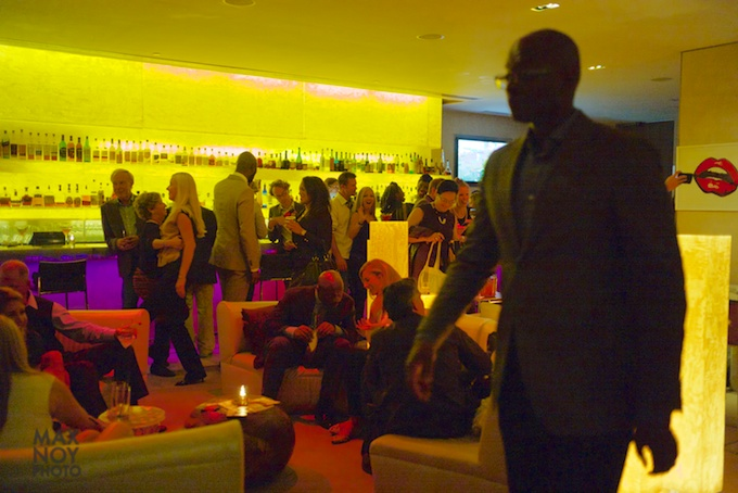 The Ligths are Low but the Energy is High at Affordable Art Fair Fall 2013 Edition party at the W Times Square