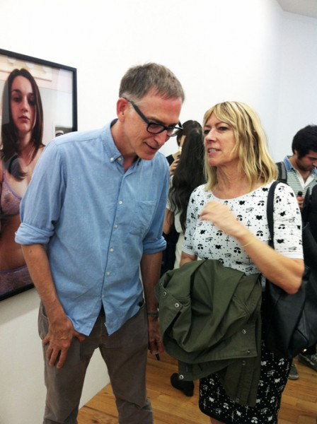 Richard Kern with a fan