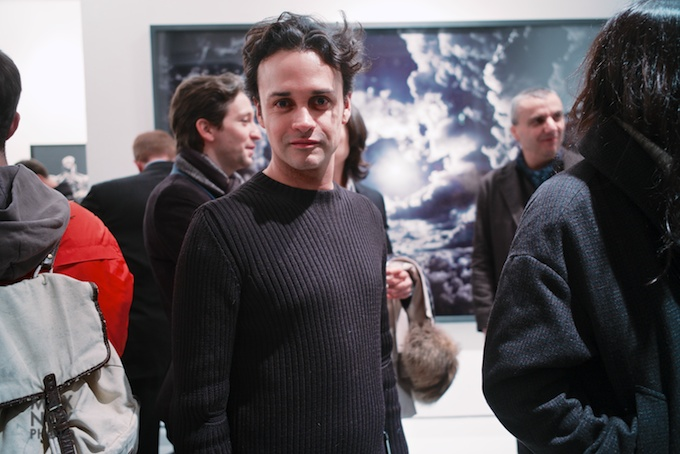 Fred Torres at his new space for the opening of Seb Janiak