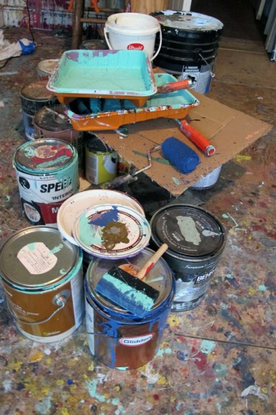 Lots of paint at the studio