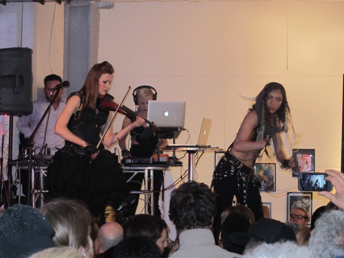 Artists performing at the opening of Imagine