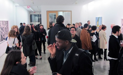 Opening night for Anna Navasardian: Black and White at Claire Oliver Gallery