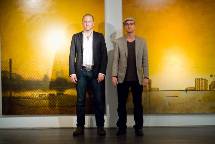 (L-R) Jason Patrick Voegele and Keith Schweitzer at The Lodge Gallery