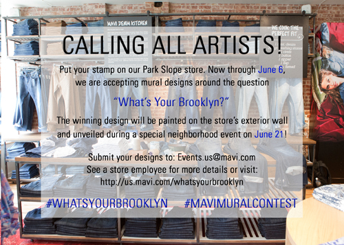 """MAVI ANNOUNCES """"WHAT'S YOUR BROOKLYN"""" ART COMPETITION"""