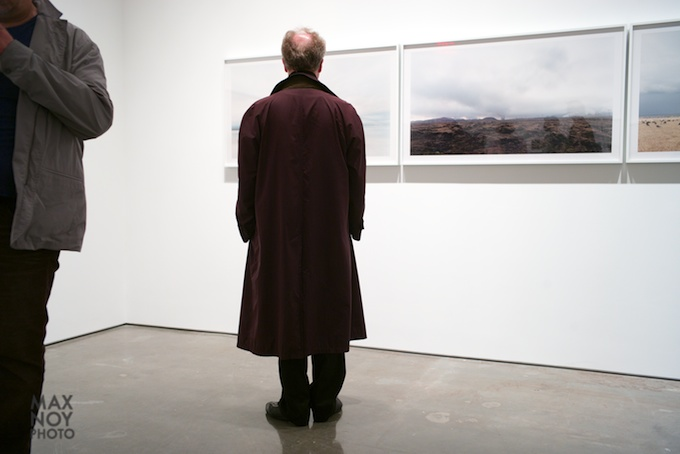 Standing in line with the art at Yossi Milo Gallery