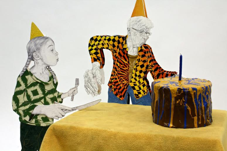 Craig Norton at Jim Kempner Fine Art: Why are these old folks so happy?