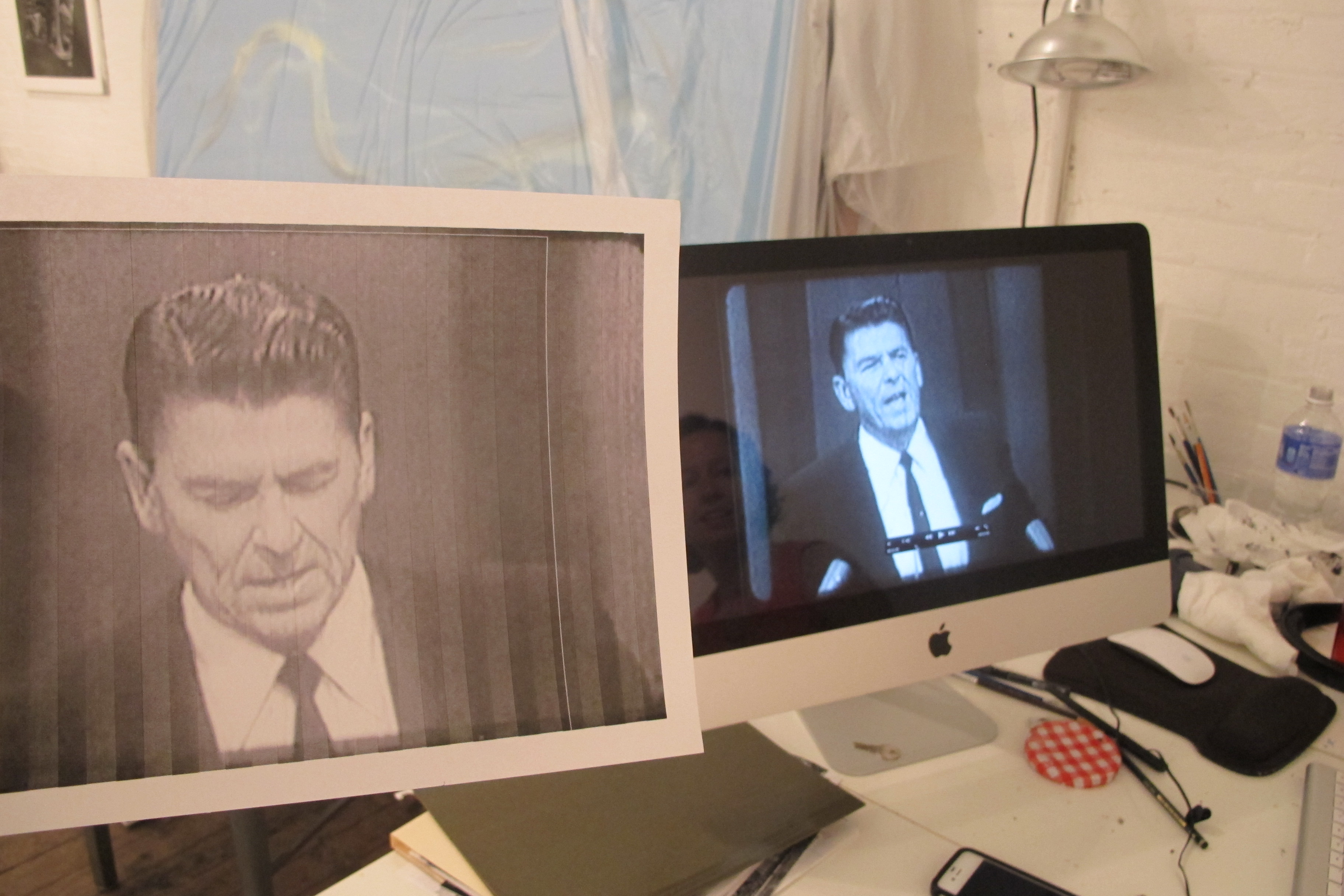 Work-in-progress: Istomina's new video based on the footage from Ronald Reagan's speech during Barry Goldwater's campaign in 1964