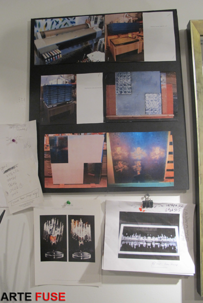 Storyboard of how Eric sandblasters images / alphabet characters onto glass.