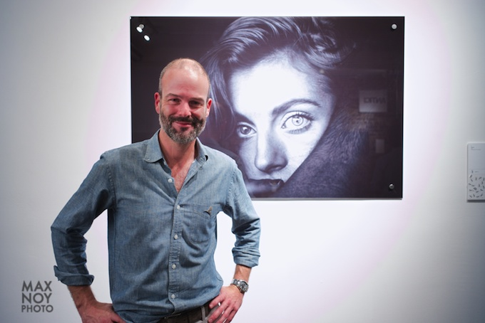 Alex Kelleher at his reception in Sohotel Art Space