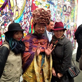 Artist Takashi Murakami with his fans