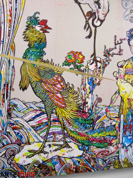 """Takashi Murakami: In the Land of the Dead, Stepping on the Tail of a Rainbow"" at Gagosian Gallery"