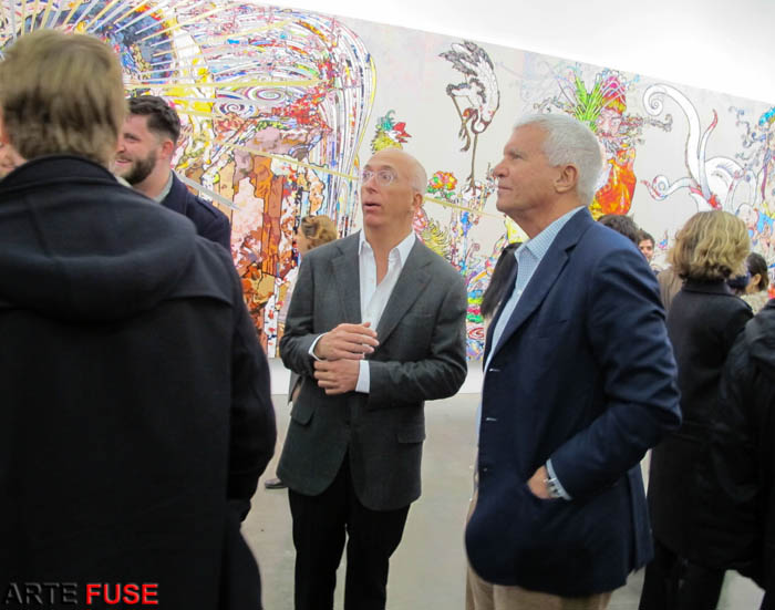 Larry Gagosian at the opening of Takashi Murakami