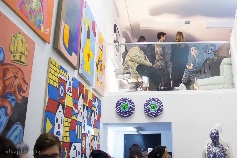 Two levels of ground breaking art at 60 Orchard Street