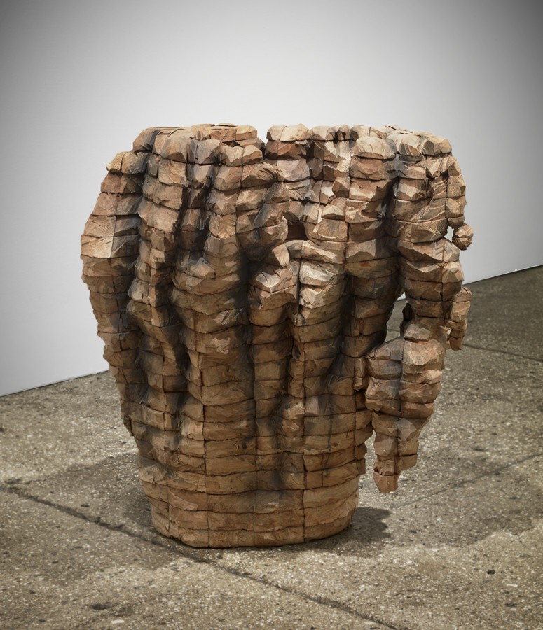 Permeated Shield by Ursula von Rydingsvard at Galerie Lelong