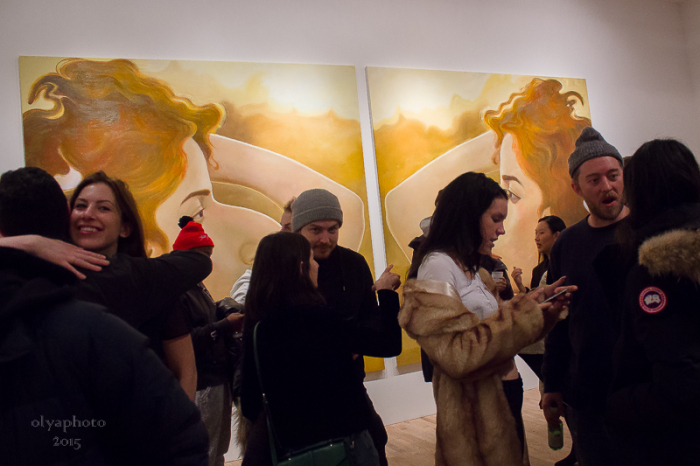 Art Crowd at Postmasters Gallery