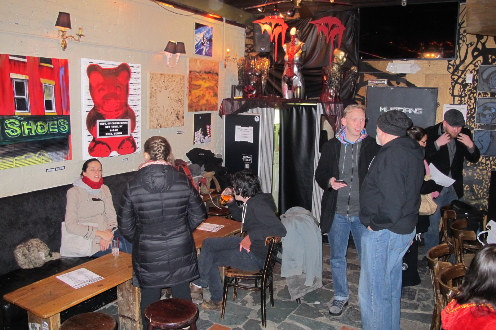 Opening night at Arlene's Grocery