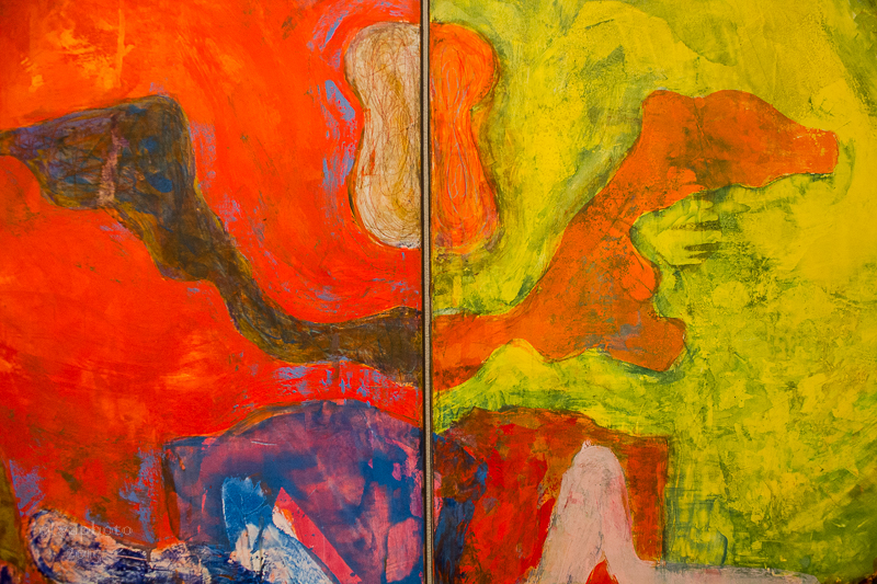 Color blast close up of work by Bill Jensen