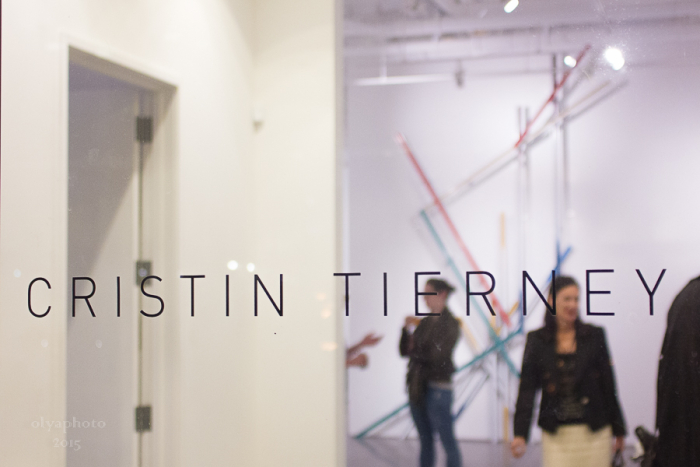 Welcome to Cristin Tierney Gallery on art night