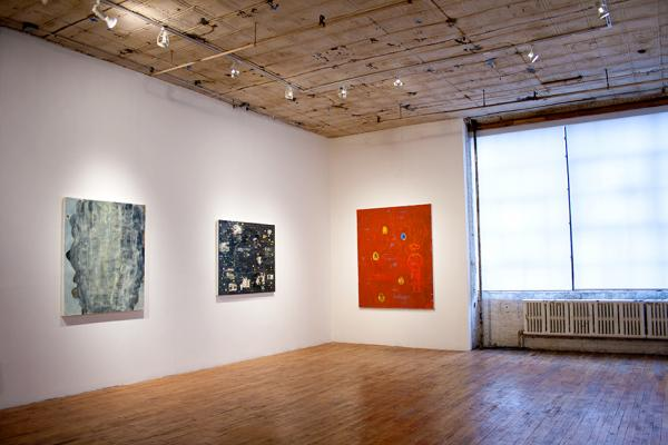 Installation shorts of Crypto Somatic Incantation: New Paintings by Charles Yuen at Studio 10