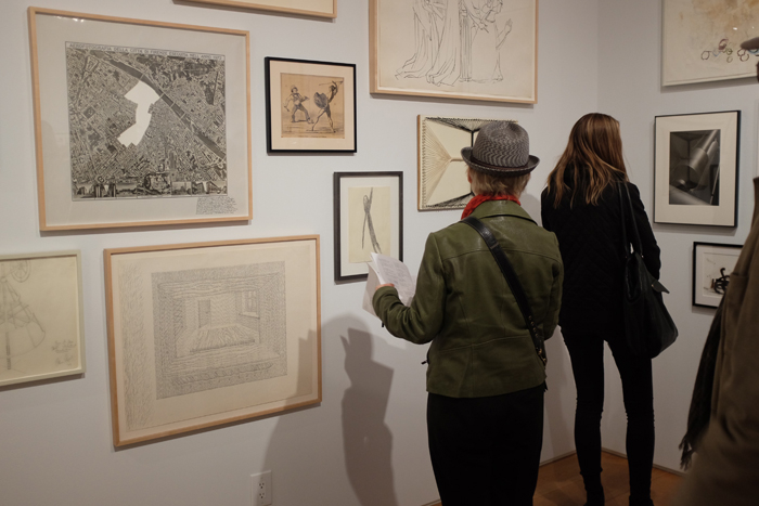 Opening night or Drawing Dialogues: Selections from the Sol LeWitt Collection at The Drawing Center
