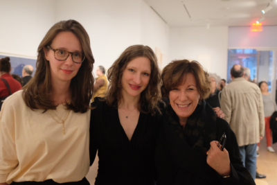 (L to R) LeWitt Collection co-curators Béatrice Gross and Claire Gilman with Carol LeWitt (Sol LeWitt's widow).