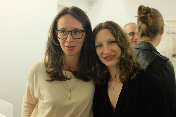 L to R: LeWitt Collection co-curators Béatrice Gross and Claire Gilman.