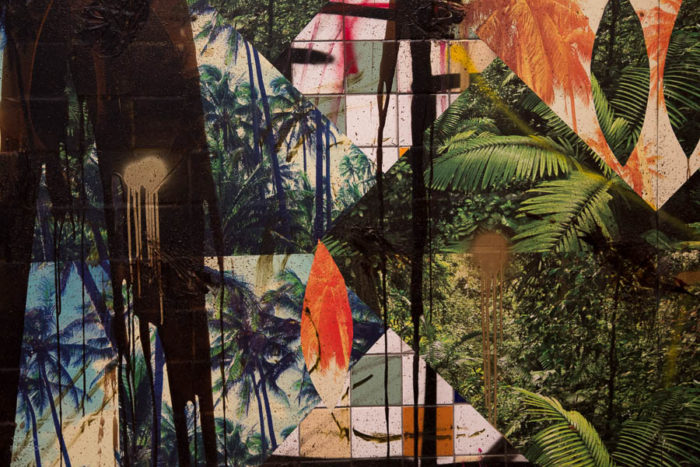 Untitled Escape Collage by Rashid Johnson