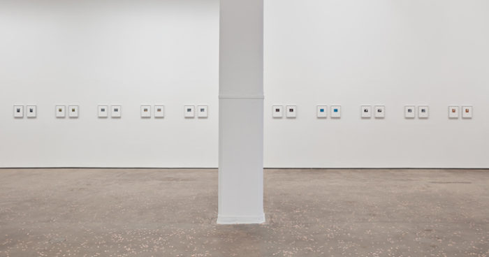 Peter Liversidge, Two Fold, installation view at Sean Kelly Gallery, New York, 2016