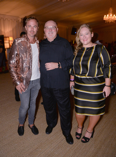 Jonas Tahlin, CEO of Absolut Elyx, Sean Kelly and Lauren Kelly attend the Art Basel Fundraiser In Miami Beach With Sean Kelly And Paddle8 hosted by Absolut Elyx And Water For People at Nautilus Hotel on December 1, 2016 in Miami Beach, Florida. (Photo by Gustavo Caballero/Getty Images for Absolut Elyx)