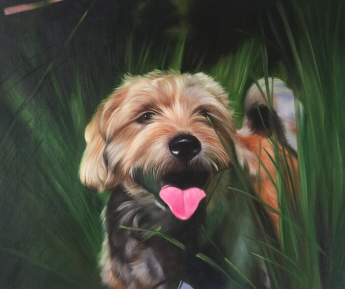 Man gives wife a beautiful pet portrait for he fortieth birthday