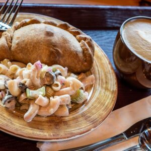 A Savory Hand Pie and Classic Macaroni Salad