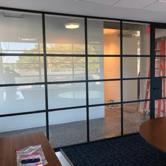 Industrial Demountable Glass Wall Partitions for and Investment Advisors Firm (2)