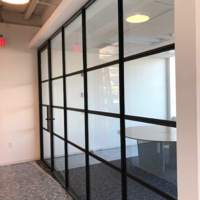 Industrial Demountable Glass Wall Partitions for and Investment Advisors Firm (3)