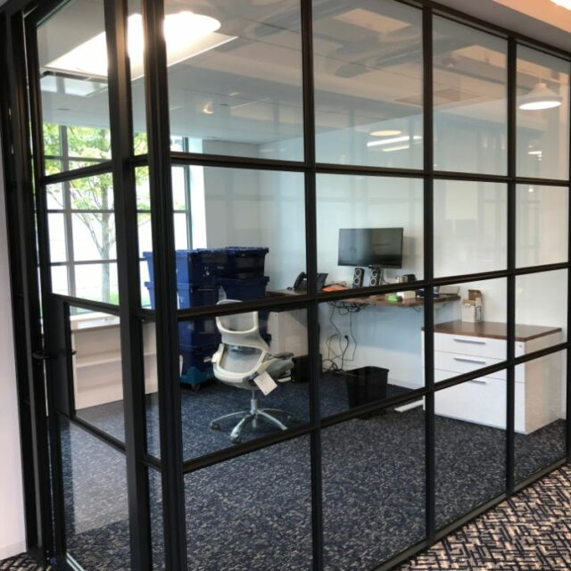 Industrial Demountable Glass Wall Partitions for and Investment Advisors Firm (4)