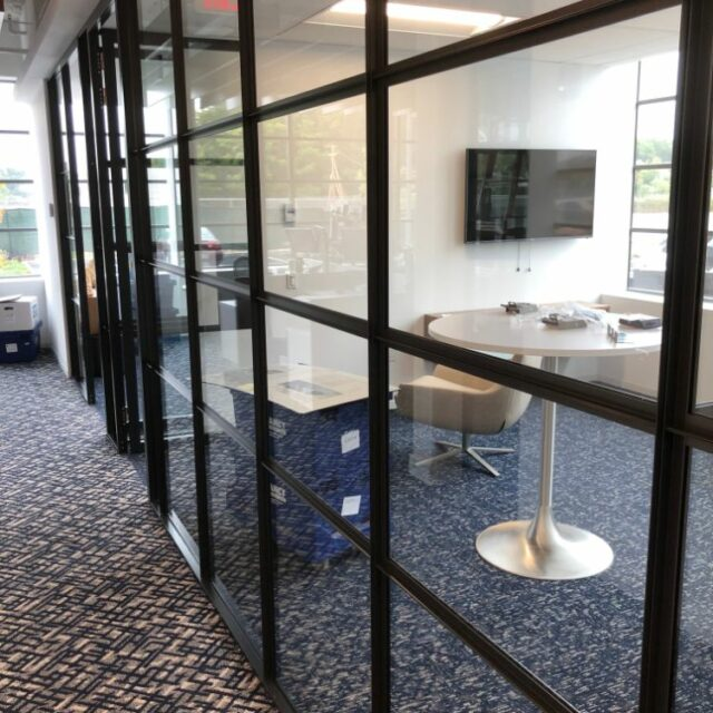 Industrial Demountable Glass Wall Partitions for and Investment Advisors Firm (5)