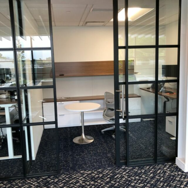 Industrial Demountable Glass Wall Partitions for and Investment Advisors Firm (6)